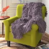 Surya Kharaa Throw Polyester in Gray, Size 60.0 H x 50.0 W in | Wayfair TKH1000-5060