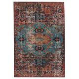 """""""Vibe by Jaipur Living Presia Indoor/ Outdoor Medallion Red/ Teal Area Rug (2'6""""""""X4') - Jaipur Living RUG150720"""""""