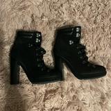 Coach Shoes | Coach Tie Up Combat Boots | Color: Black | Size: 6