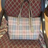 Burberry Bags | Burberry Reversible Leather Tote | Color: Black/Tan | Size: Os
