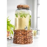 Home Essentials & Beyond 2 Gallon Glass Dispenser with Wicker Stand