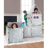 HearthSong Indoor Forts & Tents - Blue & White 16-Panel Fantasy Forts Set