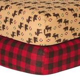 Zoomie Kids Check Print Flannel Fitted Crib Sheet Set Cotton, Size 10.0 H x 28.0 W x 52.0 D in | Wayfair 95A8D48800DD45A18E9D1284127419FB