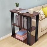 17 Stories End Table w/ Storage Shelf Wood/Metal in Brown, Size 24.8 H x 23.62 W x 11.81 D in | Wayfair 0D45FE87290845CFAF7A03840BE837BF