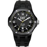CAT Men's A116121121 Navigo Date Black Analog Dial with Black Rubber Strap Watch