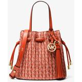 Willa Extra-small Pleated Logo Tote Bag - Red - Michael Kors Totes