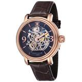 Longcase Automatic Brown Dial Watch -07 - Pink - Thomas Earnshaw Watches