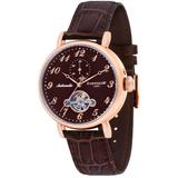 Grand Legacy Automatic Brown Dial Watch -05 - Pink - Thomas Earnshaw Watches