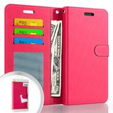 Fits Samsung Galaxy A72 Faux Leather Phone Wallet Case with Credit Card Slots only compatible with Samsung Galaxy A72, Pink For Galaxy A72