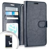 Apple iPhone 12/iPhone 12 Pro Faux Leather Phone Wallet Case w/ Credit Card Slots compatible with iPhone 12/iPhone 12 Pro 6.1 inch screen size, Blue F