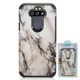 White Marble Design Slim Hybrid Rugged Case, White For Fortune 3