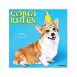 Willow Creek Press Calendars Various - Corgi Rules 18-Month 2022 Wall Calendar