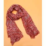 H.O.P.E Women's Cold Weather Scarves Red - Red Geometric Ikat Lightweight Scarf