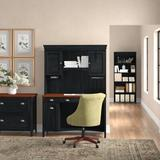 Lark Manor™ Heskett 4 Piece Rectangular Computer Desk Office Set w/ Hutch Wood in Black | Wayfair D277A74BD2C043088F62127EF76AB35F