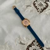 Coach Accessories   Coach Boyfriend Teal Silicone Blue Rose Gold Watch   Color: Blue/Gold/Tan   Size: 34mm