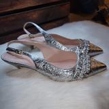 Kate Spade Shoes   Kate Spade Oliene Silver Kitten Heel Slingbacks   Color: Silver   Size: 8.5
