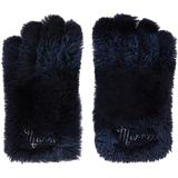 Navy Shearling Gloves - Blue - Marni Gloves