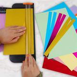 SSHAOSS Glitter Cardstock Paper Cutter Bundle, 60 Sheets Assorted A4 Glitter Sheets Metallic Foil Paper, Size 2.6 H x 16.34 W x 8.94 D in   Wayfair