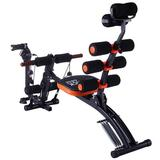 Seefaaty Abdominal Trainers Abdominal Workout Machine Thighs Buttocks Rodeo Height Adjustable Sit-Up Exerciser Home Trainer in Black   Wayfair