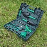 SSHAOSS 11 Piece Stainless Steel Garden Tool Kit w/ Carrying Case,Include Pruner, Mini Rake, Big & Small Shovel, Sprayer, Weeder | Wayfair