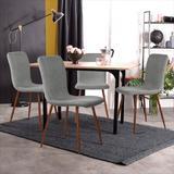 INLE LNIE Elegant Family Side Chair/Dining Chair, 4-Piece Set,Grey in Brown/Gray, Size 34.3 H x 17.1 W x 18.1 D in   Wayfair LNIE-W9030080