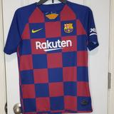 Nike Shirts & Tops | Kids Nike Barcelona Soccer Jersey | Color: Blue/Red | Size: Xlb