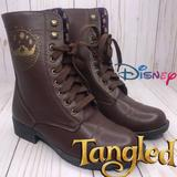 Disney Shoes | Disney Tangled Lanters Combat Boots | Color: Brown/Gold | Size: 6