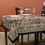 Sweet Us Kalamkari Cotton Paisley Floral Block Print Tablecloth Square 106 X 106 In Bedspread Queen Blue Red Cotton in Red/Green   Wayfair