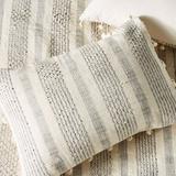 Anthropologie Bedding | Anthropologie Set Of 2 Striped Tassel Shams | Color: Blue/White | Size: Standard Shams