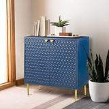 Mercer41 2 Door Locker Accent Cabinet Wood in Blue, Size 32.0 H x 15.75 D in | Wayfair 19134E3A98C94AFAB2396909ED8B1286