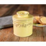 One Allium Way® Hornick Antiques Butter Dish All Ceramic in Brown   Wayfair 0E016543A72D4619B01D0C1D85228DD5