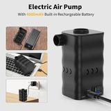 Symple Stuff Electric Air Pump, Rechargeable Battery Air Mattress Pump, Portable Quick-fill Inflator/deflator Pumps w/ 4000mah For Camping Inflatabl