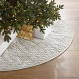 Marquette Velvet Tree Skirt - Frosted Green - Frontgate - Christmas Decorations