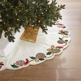 Ornament & Ribbon Embellished Tree Skirt - Frontgate - Christmas Decorations