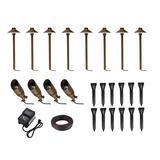 Aera cast brass landscape lighting full starter pack of 12 kit 3 - Elegant Lighting KIT40408