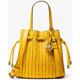 Willa Extra-small Pleated Logo Tote Bag - Yellow - Michael Kors Totes