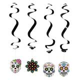 Oriental Trading Company Day Of The Dead Hanging Swirl Decorations - 12 Pc. - Halloween - Hanging Decor - 12 Pieces | Wayfair 13603730