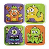 Oriental Trading Company Monster Party Paper Dinner Plates - 8 Ct. - Halloween - Print Tableware - 8 Pieces | Wayfair 13656534