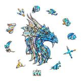 Polar Wooden Jigsaw Puzzles- Warrior Dragon Puzzle Unique Shape Animal Wooden Puzzle, Best Gift For Adults & Kids, Family Game Play Collection