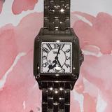 Disney Accessories | Disney Minnie Mouse Silver Watch Square Face | Color: Black/Silver | Size: Os