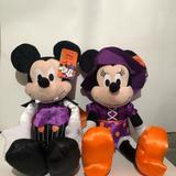 Disney Toys | Minnie & Mickey Halloween Plush Toys | Color: Black | Size: Osbb