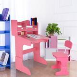 Harriet Bee Height Adjustable Study Desk & Chair Set w/ Storage Wood in Pink, Size 42.13 H x 27.56 W x 23.62 D in | Wayfair
