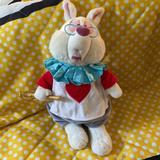 Disney Toys   Disney Parks March Hare Stuffed White Rabbit   Color: Red/White   Size: Osg