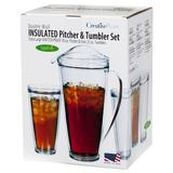 Creative Ware Insulated Pitcher Tumbler Set by Creative Bath in Clear