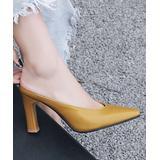 BUTITI Women's Mules YELLOW - Yellow Pointed-Toe Mule - Women