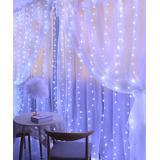 Lamei String Lights White - White 300-Bulb Curtain LED String Light