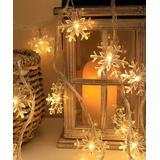Lamei String Lights Warm - Warm White Snowflake 40-Bulb LED String Light