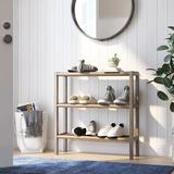 Rebrilliant Solid Wood Etagere Bookcase Wood in Brown, Size 29.0 H x 28.25 W x 9.0 D in   Wayfair BB7838FFD1C643E599D48AF9C9CEA4CE
