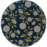Andover Mills™ Annice Floral Blue Indoor/Outdoor Area Rug Polypropylene in Blue/Brown, Size 94.0 W x 0.16 D in | Wayfair