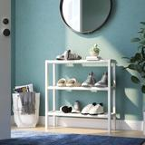 Rebrilliant Solid Wood Etagere Bookcase Wood in White, Size 29.0 H x 28.25 W x 9.0 D in   Wayfair REBR4918 44223573